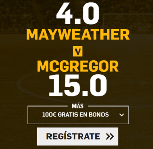 Supercuotas Boxeo Mayweather vs Mcgregor